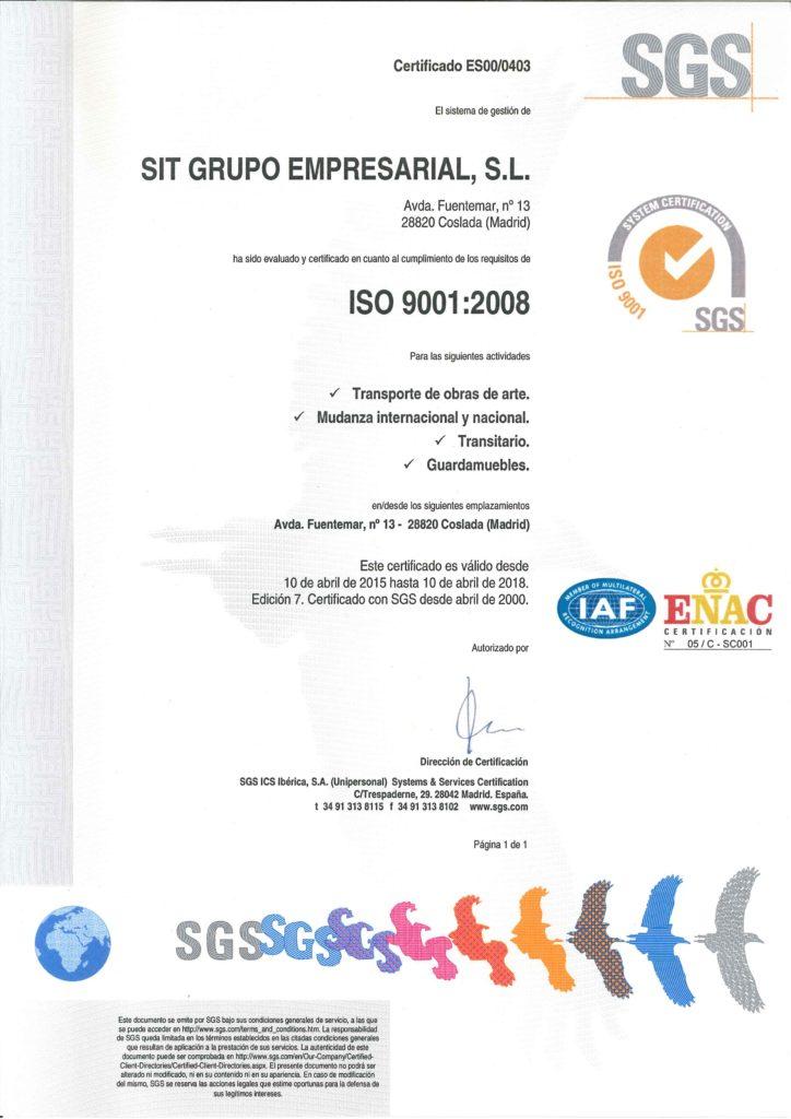 SGS CERTIFICADO CAD 2018 E
